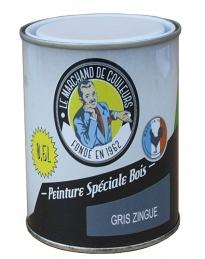 Peinture Spécial Bois - Satinée - Gris zingué - 0.5 L - ONIP