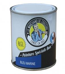 Peinture Spécial Bois - Satinée - Bleu marine - 0.5 L - ONIP