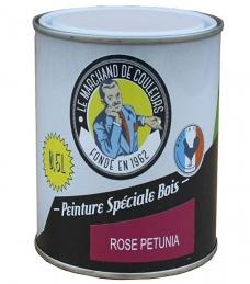 Peinture Spécial Bois - Satinée - Rose pétunia - 0.5 L - ONIP