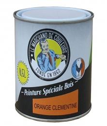 Peinture Spécial Bois - Satinée - Orange clémentine - 0.5 L - ONIP