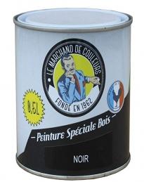 Peinture Spécial Bois - Satinée - Noir - 0.5 L - ONIP