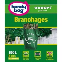 8 sacs pour branchages - Très résistant - 150 L - HANDY BAG