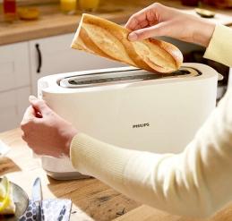 Grille pain avec fente longue - HD2590 - Blanc - PHILIPS