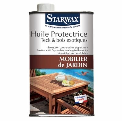 Huile protectrice pour mobilier de jardin en teck et bois exotiques - 500 ml - STARWAX