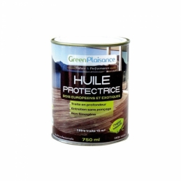 Huile de protection pour mobilier de jardin en teck - 750 ml - GREEN PLAISANCE
