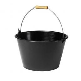 Seau à vendanges -Plastique - Poignée bois - 15.5 L - Noir - EDA