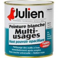Peinture multi-usages boîte - 500 ml - Blanc - JULIEN