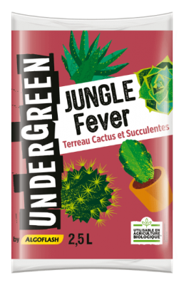 terreau cactus et succulentes jungle fever 2 5 l. Black Bedroom Furniture Sets. Home Design Ideas