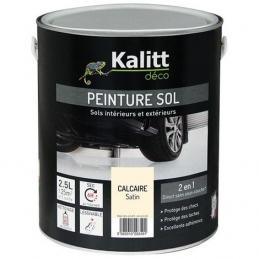 Peinture Spécial sol - Satin - Calcaire - 2.5 L - KALITT