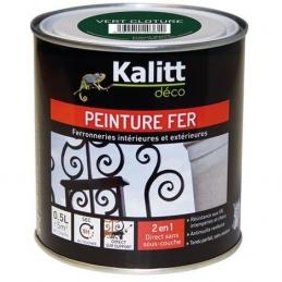 Peinture spécial Fer - Vert cloture - Brillant - 0.5 L - KALITT