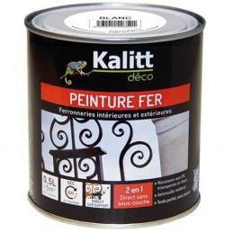 Peinture spécial Fer - Blanc - Brillant - 0.5 L - KALITT