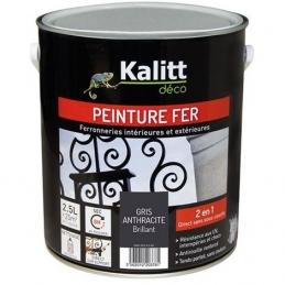 Peinture spécial Fer - Gris anthracite - Brillant - 2.5 L - KALITT