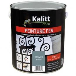 Peinture spécial Fer - Gris alu - Brillant - 2.5 L - KALITT