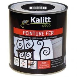 Peinture spécial Fer - Noir - Brillant - 0.5 L - KALITT