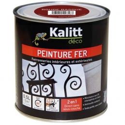 Peinture spécial Fer - Rouge basque - Brillant - 0.5 L - KALITT