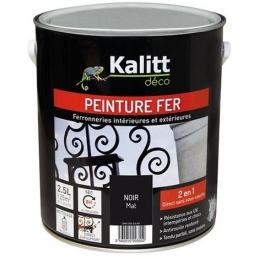 Peinture spécial Fer - Noir - Mat - 2.5 L - KALITT