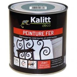 Peinture spécial Fer - Gris alu - Brillant - 0.5 L - KALITT