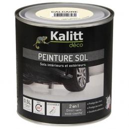 Peinture Spécial sol - Satin - Calcaire - 0.5 L - KALITT