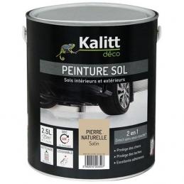 Peinture Spécial sol - Satin - Pierre naturelle - 2.5 L - KALITT