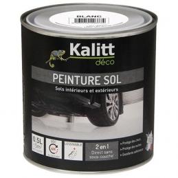 Peinture Spécial sol - Satin - Blanc - 0.5 L - KALITT
