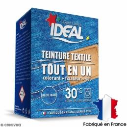 Teinture textile Tout en Un - Poudre - Jean Bleu - 350 Grs - IDEAL