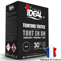 Teinture textile Tout en Un - Poudre - Noir - 350 Grs - IDEAL
