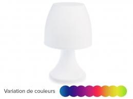 Lampe Champignon à poser - variation de couleur - 27 cm - Blanc - JARDIDECO