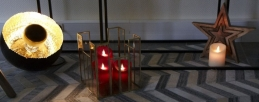 Lampe à poser en métal - 28 cm - AUBRY GASPARD