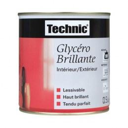 Laque glycéro brillante - 0.5 L - Rouge vif - TECHNIC