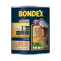 Lasure Ultra Classique - Polyuréthane - 1 L - Chêne clair - BONDEX