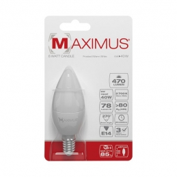 Ampoule LED Flamme - E14 - 6 Watts - Maximus - DURACELL
