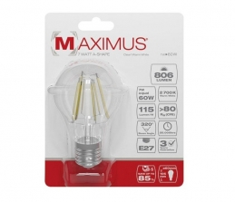 Ampoule filament LED - E27 - 7 Watts - Maximus - DURACELL