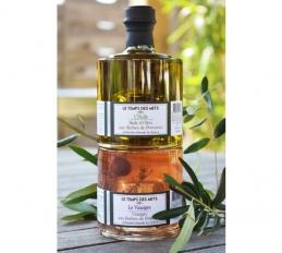 Duo empilable huile d'olive et vinaigre Herbes de Provence - LE TEMPS DES METS