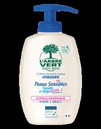 Crème lavante mains peaux sensibles - Bio - 300 ml - L'ARBRE VERT