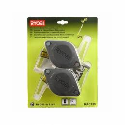 Lot de 2 têtes double lames Ryobi RAC139 pour coupe-bordures sur batterie - RYOBI