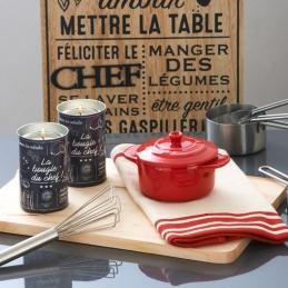 Lot de 2 bougies - Anti-odeur de cuisine - 35 H - La Bougie du Chef - DEVINEAU