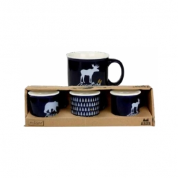 Coffret de 3 mini-mugs - Alaska - Bleu - ARD'TIME