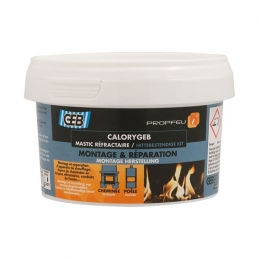 Mastic réfractaire CALORYGEB - Pour chauffage et cheminée - 300 Grs - GEB