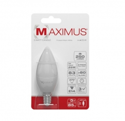 Ampoule LED Flamme - E14 - 3 Watts - Maximus - DURACELL