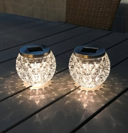 Lampe de table solaire - Verre - Ezsolar - MAXIMUS