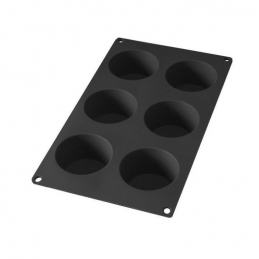 Moule à muffins en silicone - 6 gâteaux - Noir - LEKUE