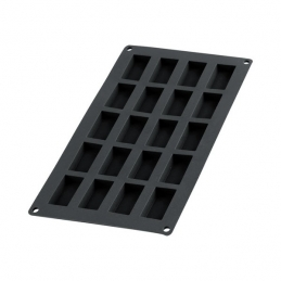 Moule à financiers en silicone - 20 cavités - Noir - LEKUE