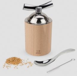 Moulin à graines de lin manuel en bois et inox - Couleur naturel - 13 cm - Isen - PEUGEOT