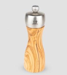 Moulin à poivre manuel en bois d'olivier et inox -15 cm - Fidgi - PEUGEOT