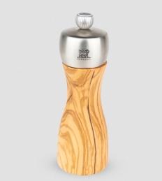 Moulin à sel manuel en bois d'olivier et inox -15 cm - Fidgi - PEUGEOT