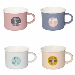 Coffret de 4 mugs panachés - Collection Morning - ARD'TIME