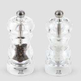 Duo de moulins à poivre et à sel manuels en acryl -12 cm - Nancy - PEUGEOT