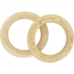 Anneaux en bois naturel - Diamètre 20 mm - Vendu par 10 - ATELIER 28