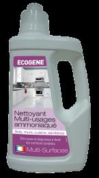 Nettoyant multi-usages ammoniaqué - Multi-surfaces - 1 L - ECOGENE