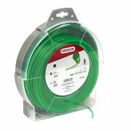 Fil de coupe pour débroussailleuse - Vert - 2.4 mm x 88 M - OREGON